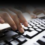 hands on keyboard